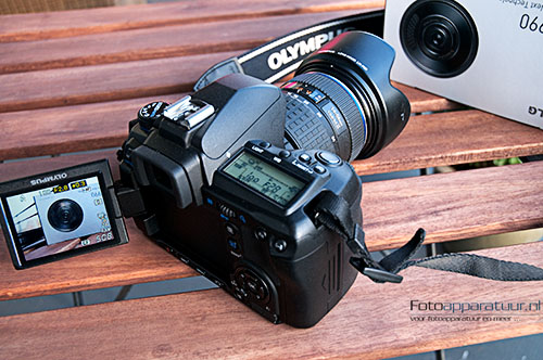 Olympus E-30 in Live View mode