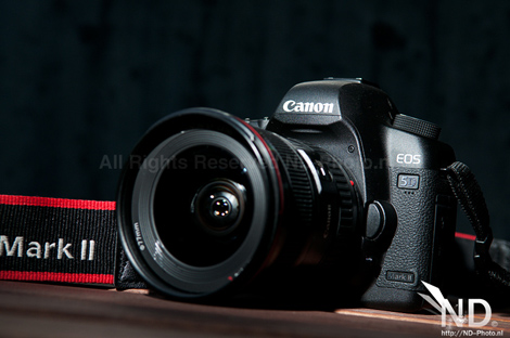 Canon EOS 5D Mark II front view 3